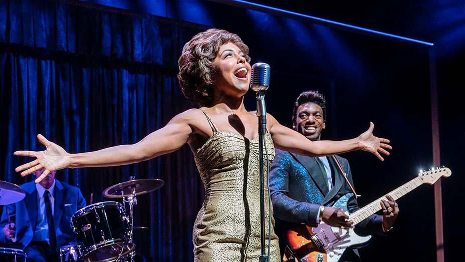 Adrienne Warren and Daniel J. Watts in Tina: The Tina Turner Musical   Photo Credit: Manuel Harlan